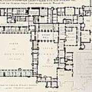 Plan Of Principal Floor Of Hampton Art Print