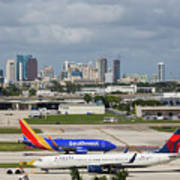 Planes By Fort Lauderdale Art Print