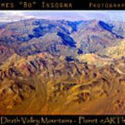 Planet Art Death Valley Mountain Aerial Art Print