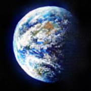Planet Earth. Space Art Art Print