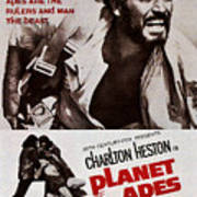Planet Of The Apes, Top Charlton Art Print by Everett