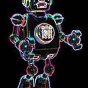 Planet Robot Art Print