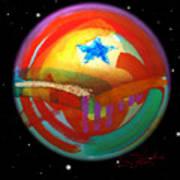 Planet Texas Art Print
