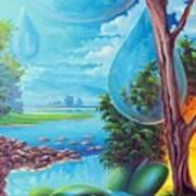 Planeta Agua Art Print