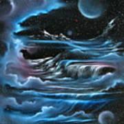 Planetary Falls Art Print