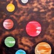 Planets At Night Art Print