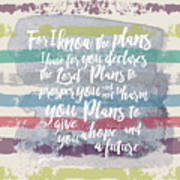 Plans I Have For You Stripes Art Print