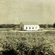 Plantation Church - Sepia Texture Art Print