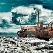 Plassey Wreck Art Print