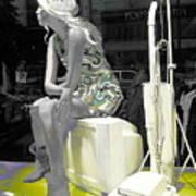 Plasticgirl In A Show-window Bruxelles - Bruxelles Art Print by Yury Bashkin