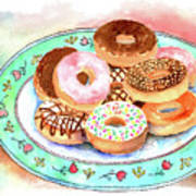 Plate Of Donuts Art Print