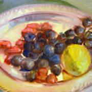 Platter Of Fruit Art Print