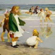 Play In The Surf Art Print by Edward Henry Potthast