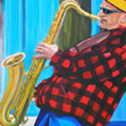 Play It Mr Sax Man Art Print