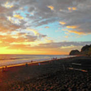 Playa Hermosa Puntarenas Costa Rica - Sunset A One Art Print