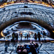Playful Ladies By Chicago's Bean  Art Print