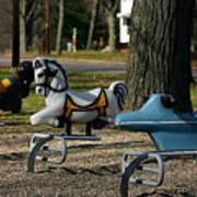 Playground Rides Art Print