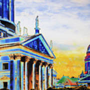 Playhouse And French Dome Art Print