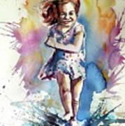Playing Girl Art Print