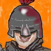 Playing Knight Art Print