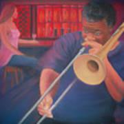 Playing the Blues II Art Print