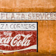Plaza Corner Coca Cola Sign Art Print