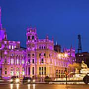 Plaza De Cibeles In Madrid Art Print