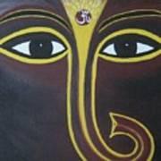 Pleasant Ganesha Art Print