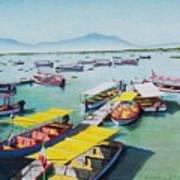 Pleasure Boats On Lake Chapala Art Print
