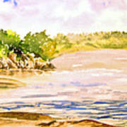 Plein Air At Pine Falls Manitoba Art Print