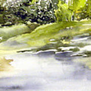 Plein Air At The Pond At Nutimik  Art Print