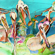 Plethora Of Pelicans Art Print