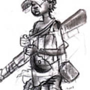 Plight Of A Child Soldier Art Print