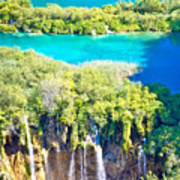 Plitvice Lakes National Park Vertical View Art Print