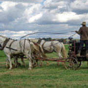 Plowing In Lancaster County Art Print