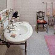 Plumber - The Bathroom  Art Print