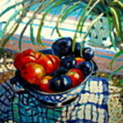 Plumbs And Nectarines Art Print
