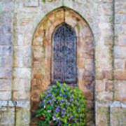 Plumergat, Brittany,france, Parish Church Window Art Print