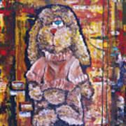 Plush Shaggy Toy Doggie Art Print