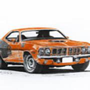 Plymouth Barracuda 1973 Hemi Cuda Art Print