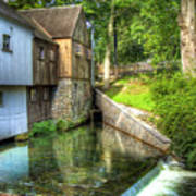 Plymouth Grist Mill Art Print