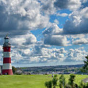 Plymouth Hoe And Smeatons Tower Art Print