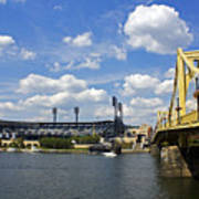 Pnc Park And Roberto Clemente Bridge Pittsburgh Pa Art Print