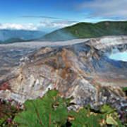 Poas Volcano Art Print
