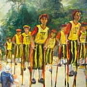 Pogo Stick Race Art Print