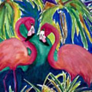 Poin And Settia Dine At The Palm Art Print