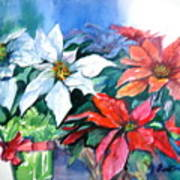 Poinsettia Gifts Art Print