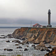 Point Arena Lighthouse Ca Art Print by Christine Till
