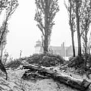 Point Betsie Lighthouse In Fog Art Print