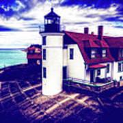 Point Betsie On Lake Michigan Art Print